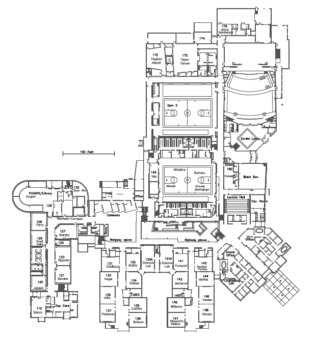 Map of main level.